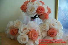 Coral wedding bouquet