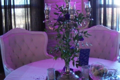 Candelabra with ruscus