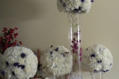 carnation spheres by le bouquet blanc