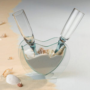 Coastal Sand Toasting Glass, destination weddings,