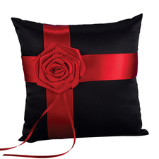 midnight rose ring pillow