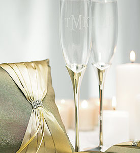 Silver Plated Tulip Stem Goblets