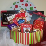 christmaChristmas holiday Ornament Gift Basket box