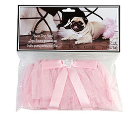 Pink flower dog skirt