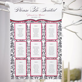 Seating Chart Love Bird Damask Design