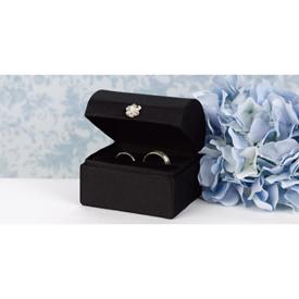 Black Satin Ring Box