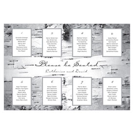 seating chart birch bark design