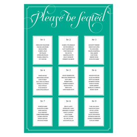 Personalized Seating Chart Expressions Design