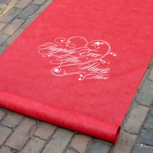 Happily ever after starts here red aisle runner