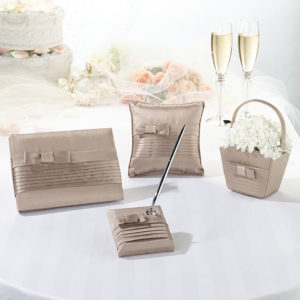 Prepack Taupe Silk Bow Collection