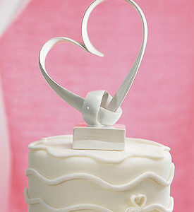 """My Love"" Stylized Heart Cake Topper"