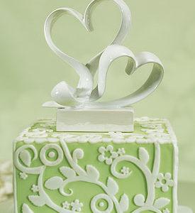 Love Link Stylized Heart Cake Topper