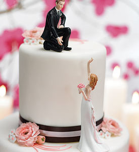 Bride and Groom Mix Match Cake Toppers