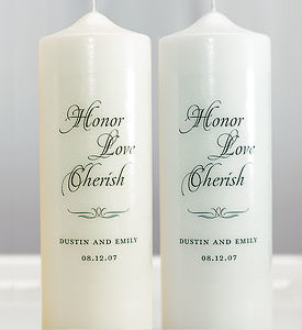 Honor Love Cherish Unity Candle