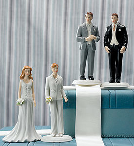 Fashionable Groom Grey Tux Cake Topper