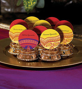 Indian Theme Stickers - Yellow Pattern (per dozen)