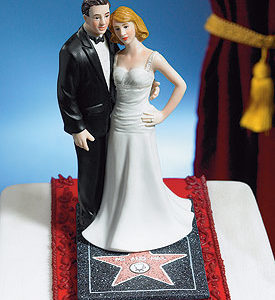 Hollywood Glamour Couple cake topper