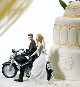 """Motorcycle """"Get-away"""" Wedding Couple"""