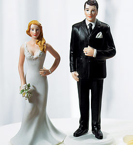 Curvy bride cake topper