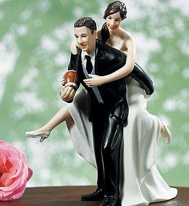 Football cake topper Couple Figurine