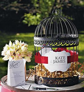 Black Classic Round Decorative Birdcage