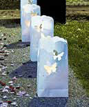 White Luminary Bags Die Cut Butterfly Pattern