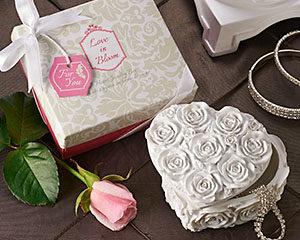 Heart Jewelry & Trinket Box love in bloom