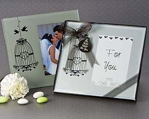 Love Birds Cage Photo Frame Favor