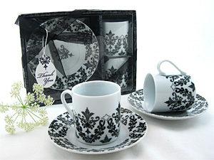 Damask Espresso Cup Favor Set