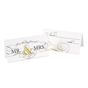 Gold elegant table place cards