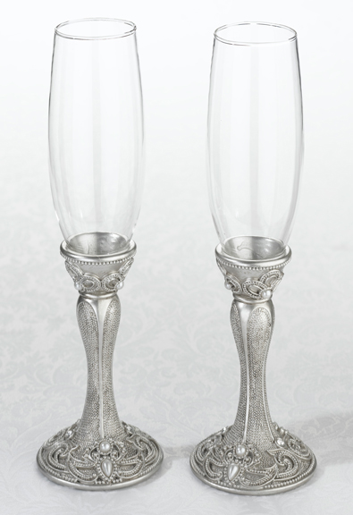 Jeweled toasting glass