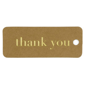 Kraft thank you Gold favor tags