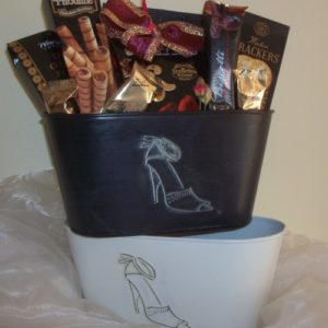 Lovely shoes gift basket