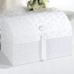 Elegant Satin Card Box White