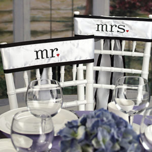 Mr & Mrs Chair Sashes