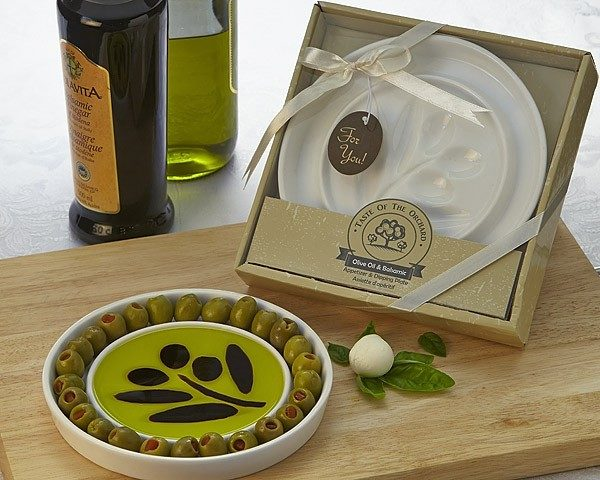 Oil-Vinegar Dipping Plate