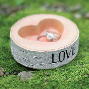 Rustic Love Ring Bowl ring holder