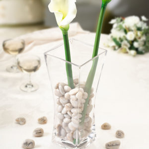 Signing Stones with Vase