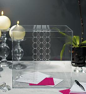 Circle of love - Acrylic gift card box