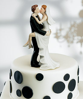 Swept Up in His Arms cake topper