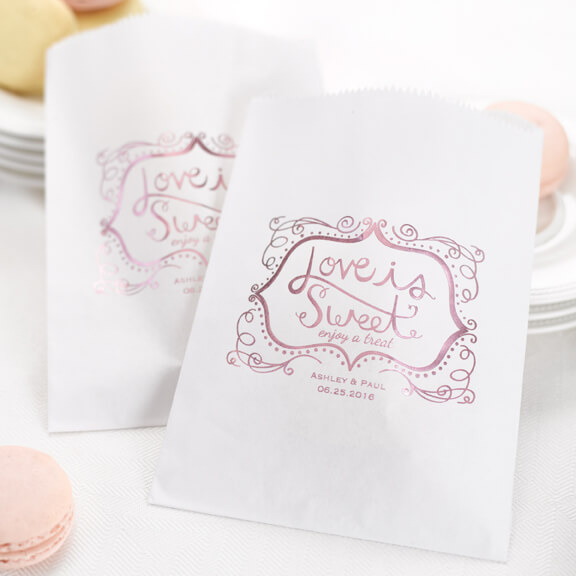 Love is sweet treat bags