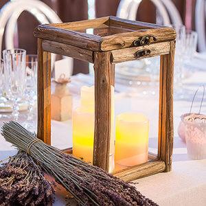 Rustic Wood Glass Box card decor box Hinged Lid