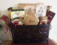 Falling leaves gift basket
