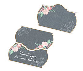 Chalk style flower place cards