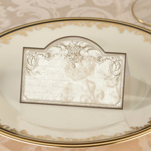 Gold vintage place cards