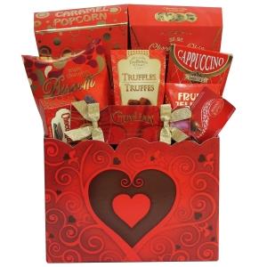 Valentine delight gift basket