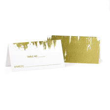 Gold foil place cards brush of love