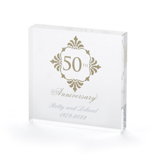 50th Wedding Anniversary Cakes.50th Golden Wedding Anniversary Cake Topper Engraved
