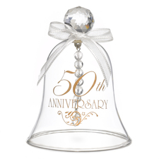 50th wedding anniversary glass bell
