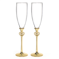 50th wedding anniversary jeweled flutes